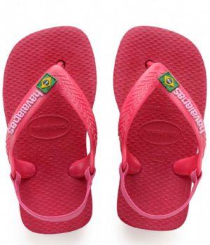 Baby Brazil Logo Flip Flops Tulip