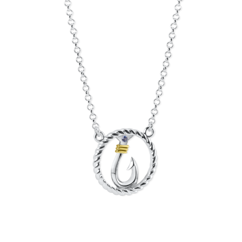 circle rope hook necklace by nau-t-girl
