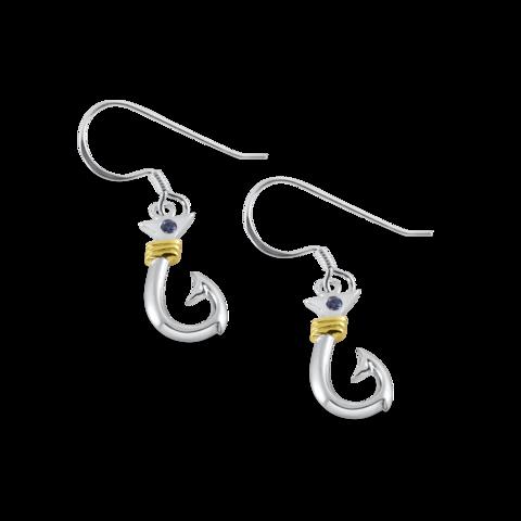 medium anchor dangle earrings nau-t-girl