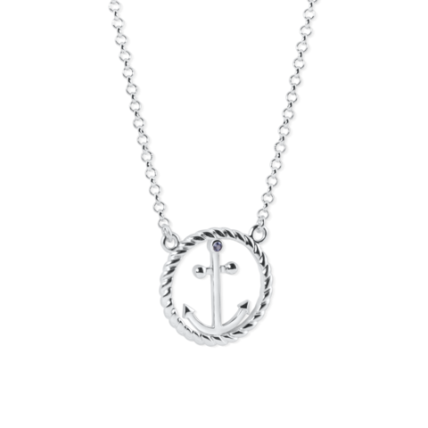 circle rope anchor necklace by nau-t-girl