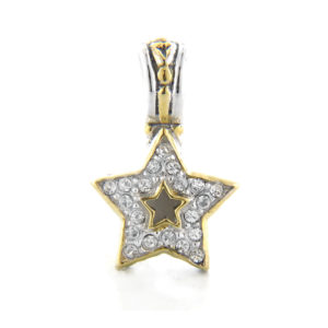 Two tone Pave Star Pendant