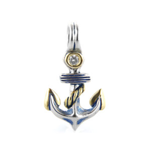 Two tone Anchor Charm