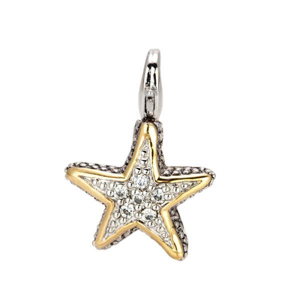 two tone Small Starfish Charm