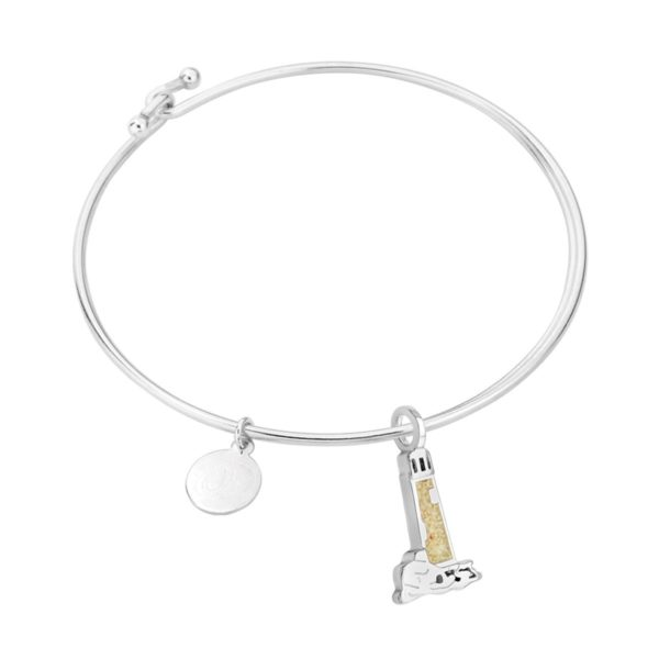 lighthouse bangle bracelet handmade in the USA by dune jewelry