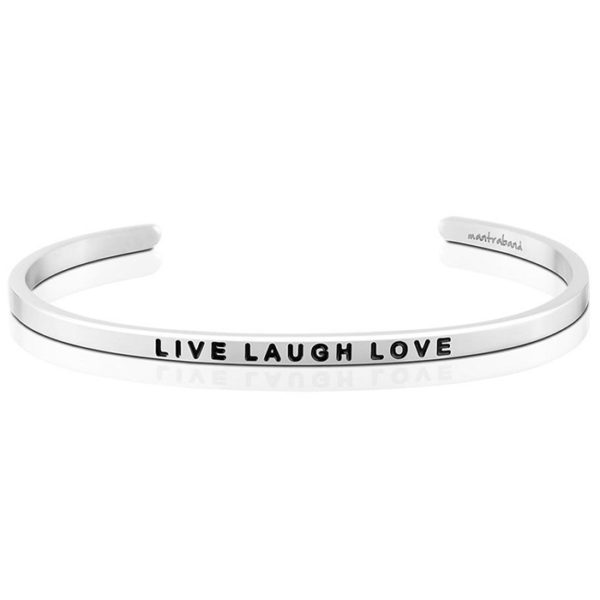 Live Laugh Love bangle Bracelet Silver