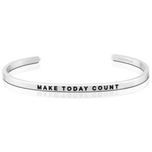 Make Today Count bangle bracelet silver