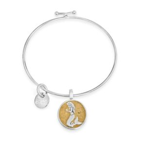 mermaid bangle bracelet handmade in the USA by dune jewelry