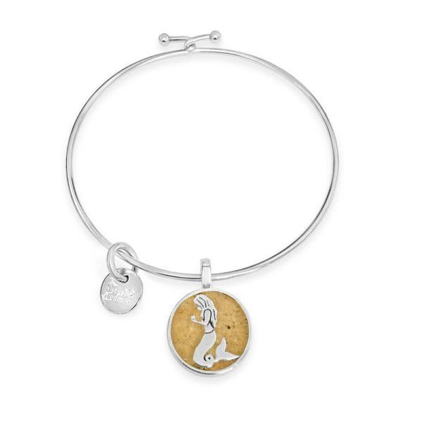 mermaid bangle bracelet handmade in the USA by dune jewelry