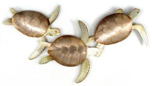 Triple Turtle Wall Art