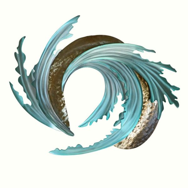 ocean waves ocean coastal stainless steel wall art handcrafted by mark malizia