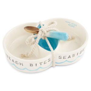Digs N Gifts Mud Pie Beach Bites Seaside Snacks Circular Dip Server Set
