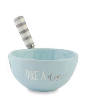 Mud Pie Beach House Seaside Dip Bowl w Spreader Set - Take A Dip