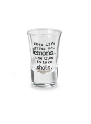 Mud Pie Drinking Sentiment Shot Glass