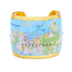 Nantucket Map Cuff