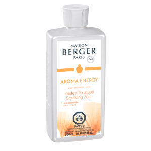aroma energy SPARKLING ZEST -a fresh and sparkling fragrance, for an invigorating andenergizing atmosphere .Essential oils with beneficial virtuesGRAPEFRUIT helps to create positivity, imparts enthusiasmand reduces anguish and anxiety.home fragrance air purification system by lampe berger maison berger