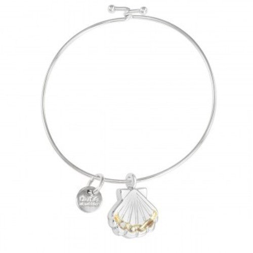 scallop shell bangle bracelet handmade in the USA by dune jewelry
