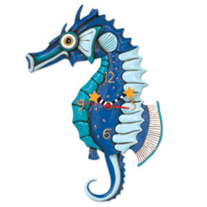blue seahorse and tail is pendulum