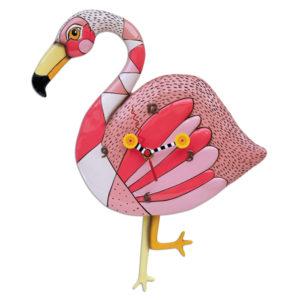 pink flamingo with legs pendulum