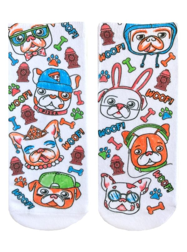 COLOR-IN SOCKS PUPPY VIBES