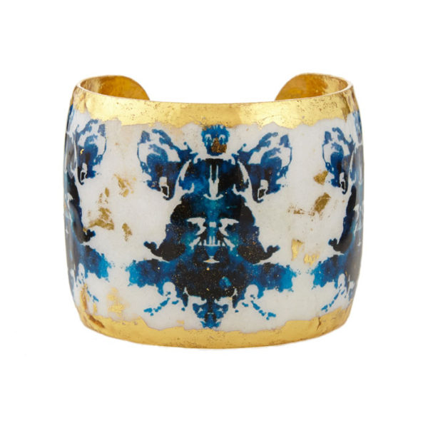 Rorschach Black & Blue Cuff