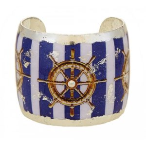 Ship's Wheel Blue Stripe Cuff