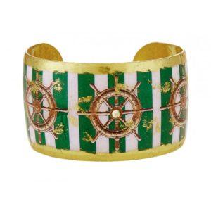 Ship's Wheel Green Stripe Cuff