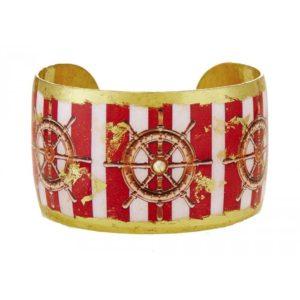 Ship's Wheel Red Stripe Cuff