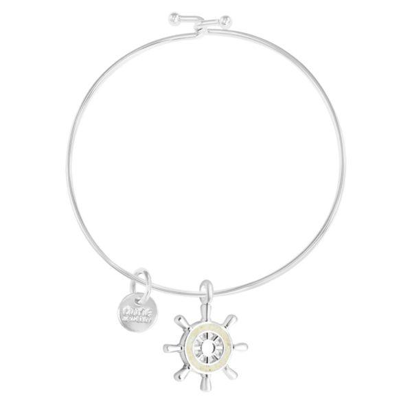 shipwheel bangle bracelet handmade in the USA by dune jewelry