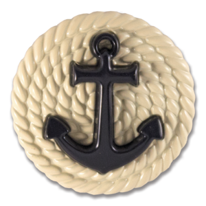 Bridget Snap Cream enamel base with navy anchor switch flops by lindsay phillips