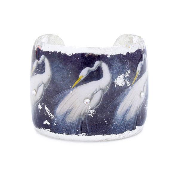 Snowy Egret Cuff