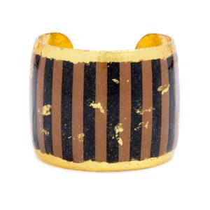 Taupe & Black Stripes Cuff