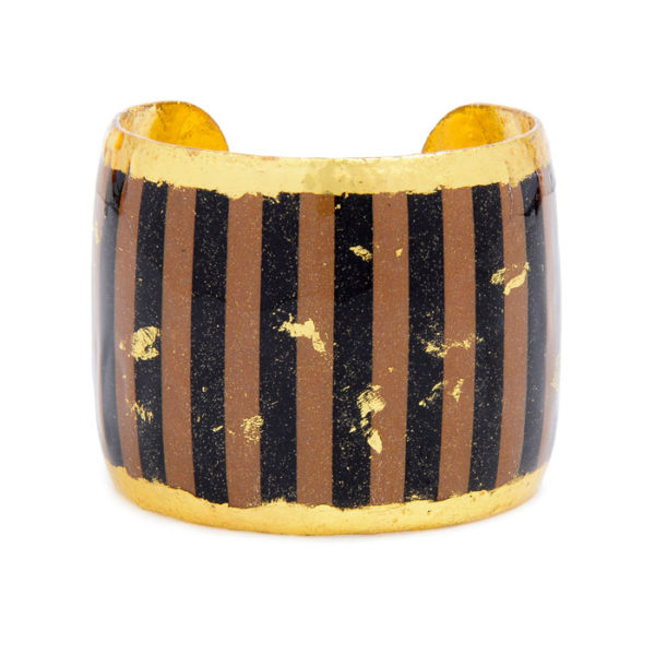 Taupe & Black Stripes Cuff