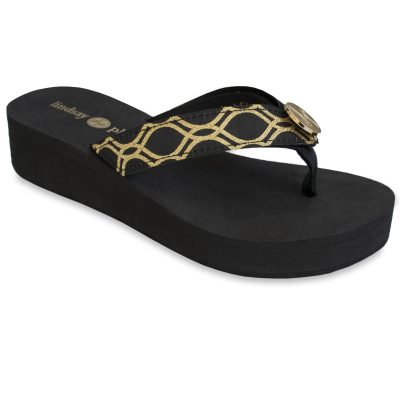 The Taylor-Tu black is an updated version of our 1 1/2″ classic EVA flip flop with soft ribbon thong and a black and gold strap with a gold LP logo ornament.