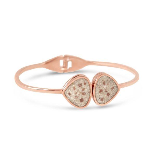 teardrop bangle bracelet with sand handmade in the USA by dune jewelry