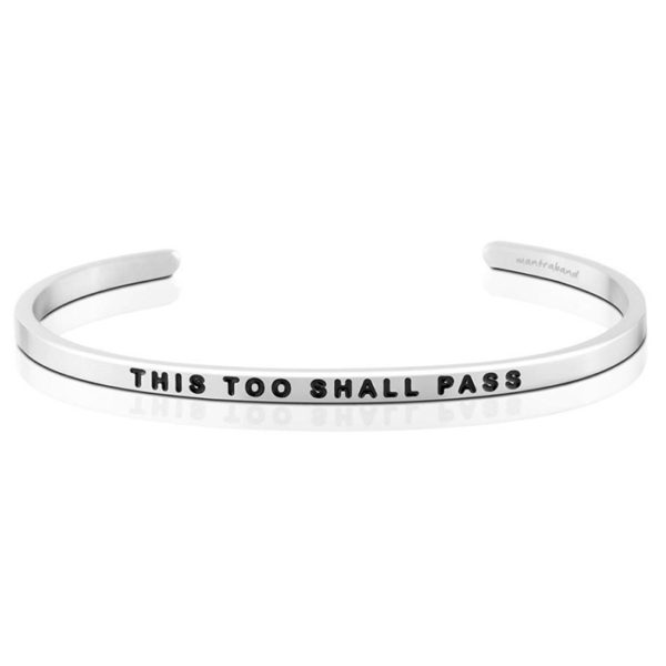 This Too Shall Pass bangle Bracelet Silver