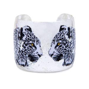 Two Leopards Cuff - Silver