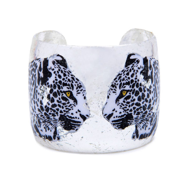 Two Leopards Cuff - Silver