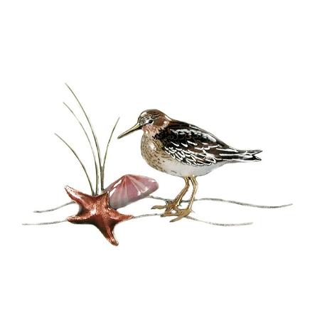 Sandpiper w/Starfish & Clam