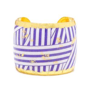 Wrapped Ribbon Cuff - Purple