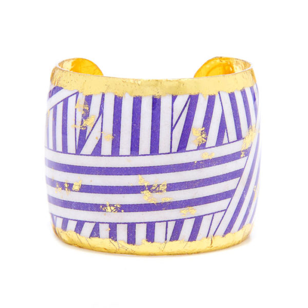 Wrapped Ribbon Cuff - Purple