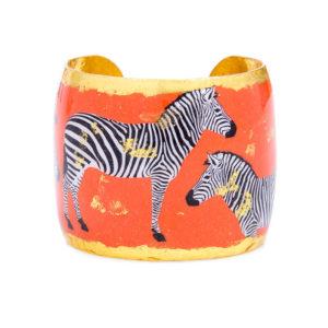 Zebra Dreams Cuff - Orange