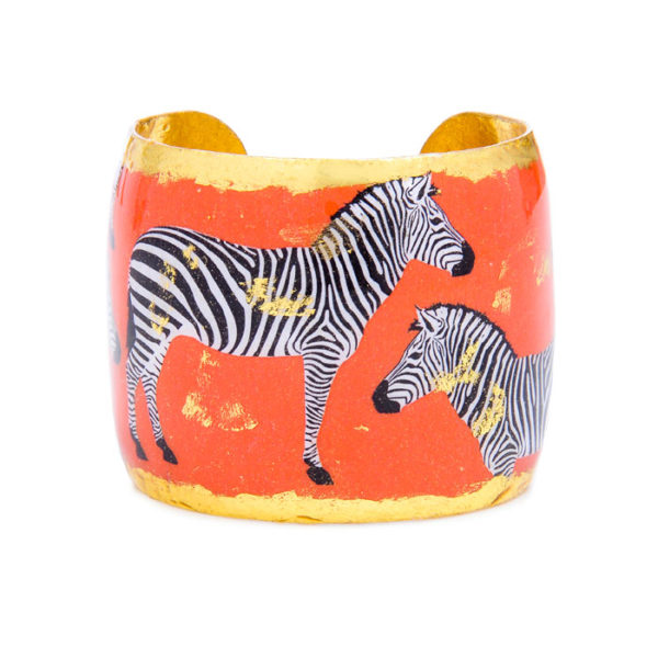 Zebra Dreams Cuff - Orange