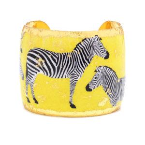 Zebra Dreams Cuff - Yellow