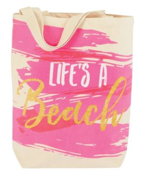 Pink 'Life's A Beach' Tote
